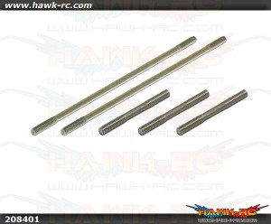 X5 Thread Rod for CCPM (2x23.5mm)x3 (2x65mm)x2