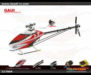 GAUI X7 Combo C (Vbar, Motor, Blades) Red/White Formula Canopy