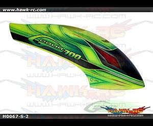 Canomod Furious Carbon Fiber Airbrush Canopy-Goblin 700