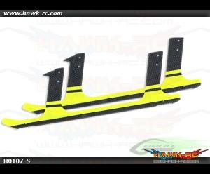 Carbon fiber landing gear - Yellow (2pcs) - Goblin 700