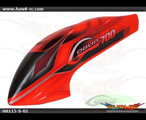 Canomod Furious RED airbrush canopy - Goblin 700