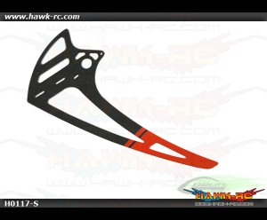 Carbon fiber vertical fin - RED (1pc) - Goblin 700