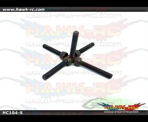 DIN 12.9 Socket Head Cap M4x22 (5pcs)-Goblin 700