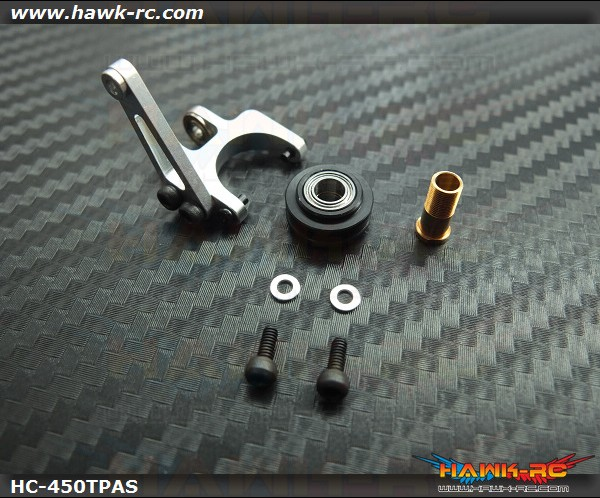Hawk Creation 450Pro/V2 New Design Tail Pitch Assembly (Silver)