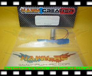 Hawk Creation 7mm Tail Motor V2 + KBDD Rotor (Pearl Blue) For mCPX