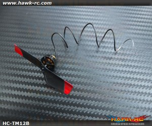 Hawk Creation 12000KV Brusless Tail Motor(7mm Mounting) Black For mCP X