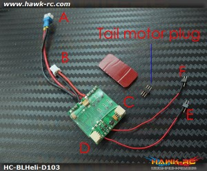 Hawk Creation BLHeli Dual ESC(10A+3.5A) For mCP X