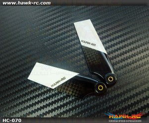 Hawk Creation 70mm CF Tail Blades (500Size)