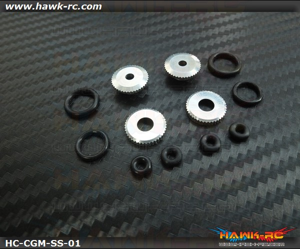 Hawk Creation 450~500 Matel Canopy Rubber Grommet Mount Set (Silver)