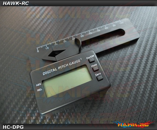 Flybarless RC helicopters Digital Pitch Gauge (100-700 Class)
