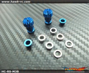 Hawk Creation Adjustable Stick Rocker End Blue Φ10mm (M3, T8FG, DX7S/8 , DJI  ,FrSky Taranis Plus)