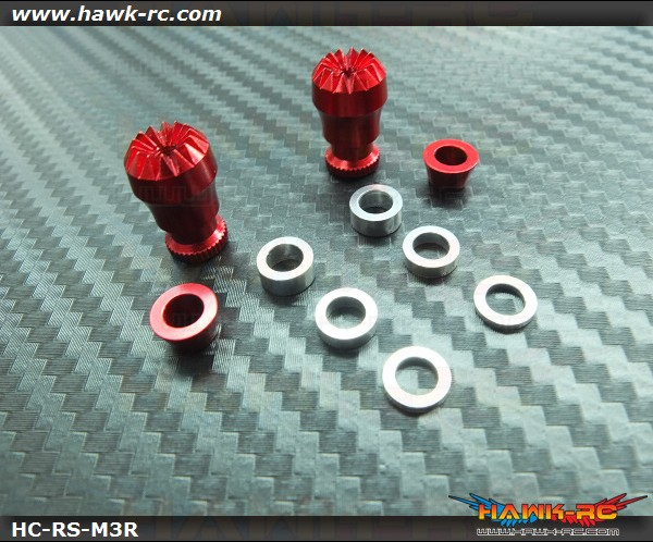 Hawk Creation Adjustable Stick Rocker End Red Φ10mm (M3, T8FG, DX7S/8 , DJI , FrSky Taranis Plus)