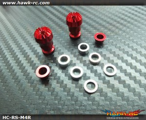 Hawk Creation Adjustable Stick Rocker End Red Φ10mm (M4, JR TX)