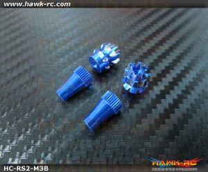 Hawk Creation Anti-Slip Stick Rocker End Blue (M3, T8FG, T14SG, DX7S/8 , DJI ,FrSky Taranis Plus)