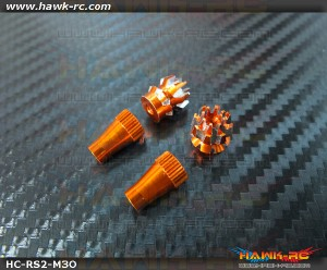 Hawk Creation Anti-Slip Stick Rocker End Orange (M3, T8FG, T14SG, DX7S/8 , DJI ,FrSky Taranis Plus)