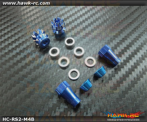 Hawk Creation Anti-Slip Stick Rocker End For JR XG8,11,14 (M4, Blue)