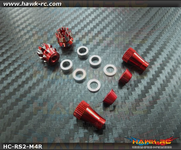 Hawk Creation Anti-Slip and Adjustable Stick Rocker End For Futaba & Spektrum (M3, Red, 8FG, T14SG, DX7S/8 , DJI ,FrSky Taranis Plus)
