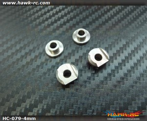 Hawk Creation LOGO 600 Metal Balde Grip 4mm Mounting Adaptor Set