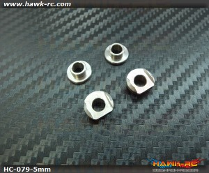 Hawk Creation LOGO 600 Metal Balde Grip 5mm Mounting Adaptor Set