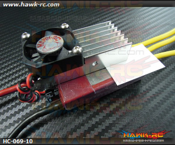 Hawk Cooler XL Heatsink (10mm Fan) For Kontronik ESC