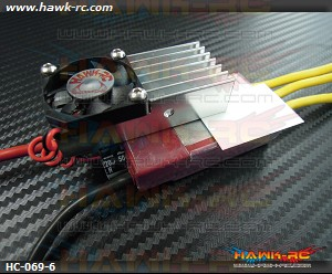 Hawk Cooler XL Heatsink (6mm Fan) For Kontronik ESC
