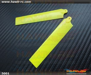 KBDD Extreme Edition Main Blades for Blade MCPX Helicopter- Neon Yellow
