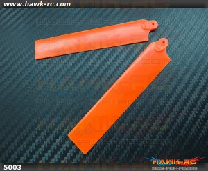 KBDD Extreme Edition Main Blades for Blade MCPX Helicopter- Neon Orange