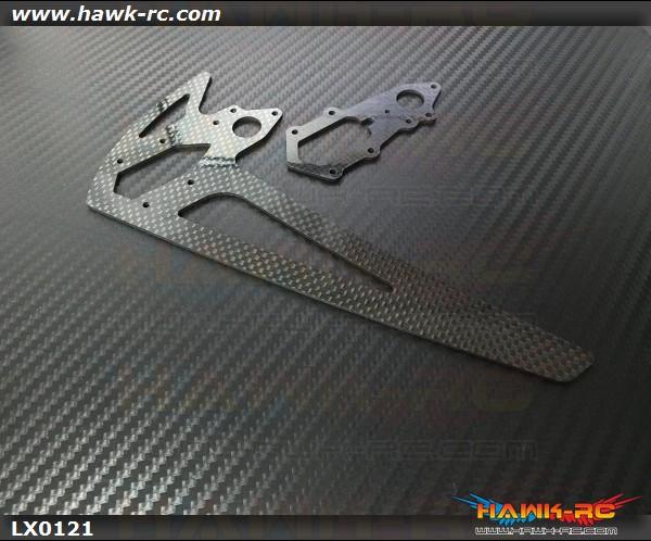 Logo 600 Carbon Tail Set (2mm CF)