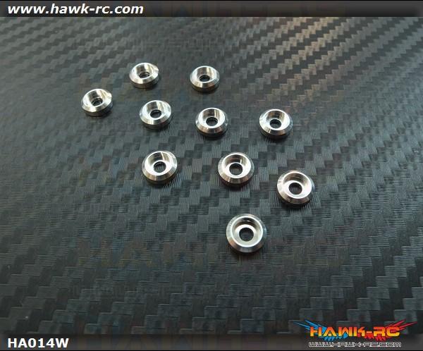 RJX Metal Finish cap for 3mm Screw (10pcs) Silver