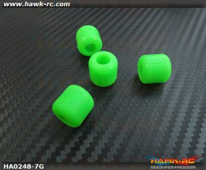 Landing skid Rubber Nut (Green 7mmΦ)