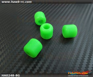 Landing skid Rubber Nut (Green 8mmΦ)