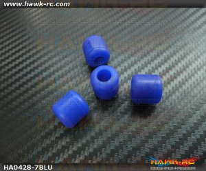 Landing Skid Rubber Nut (Blue 7mmΦ)