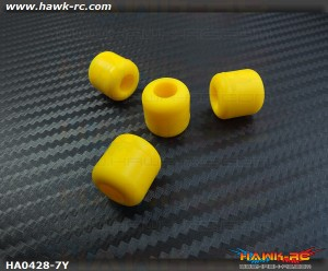 Landing Skid Rubber Nut (Yellow 7mmΦ)