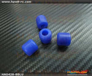 Landing Skid Rubber Nut (Blue 8mmΦ)