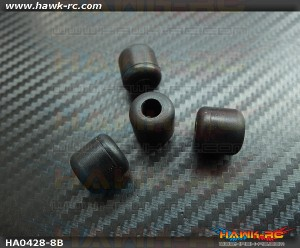 Landing Skid Rubber Nut (Black 8mmΦ)