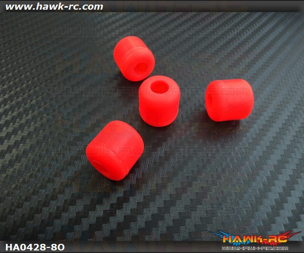 RJX Landing Skid Rubber Nut (Orange 8mmΦ)