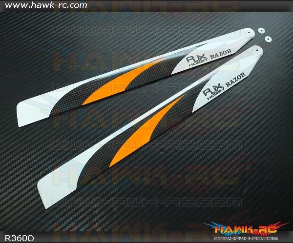 RJX  RAZOR  Orange  360mm Premium CF Blades-FBL Version  (XL Version)
