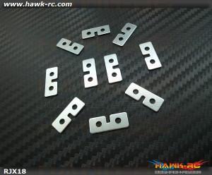RJX Metal Standard Size Servo Plate ( Silver ) 10 pcs