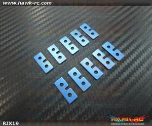 RJX Metal Standard Size Servo Plate (Blue) 10pcs