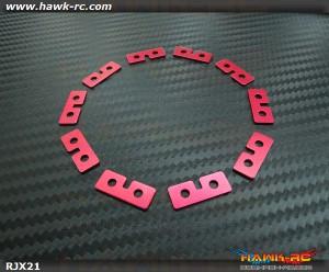 RJX Metal Standard Size Servo Plate ( Red ) 10 pcs