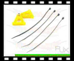 RJX Tail Boom Support Brace 3x6MM/4x6mm Rod (Yellow)