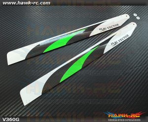 RJX  Vector  Green 360mm Premium CF Blades-FBL Version