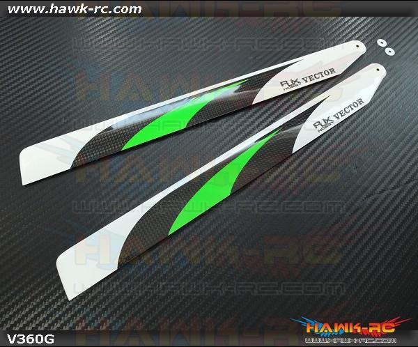 RJX  Vector  Green 360mm Premium CF Blades-FBL Version