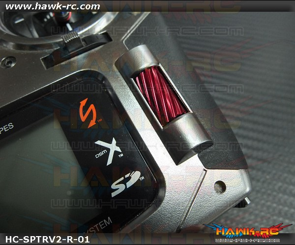 Hawk Creation CNC 7075 Alloy Slant Roller Button For DX6 G2/DX7 G2/8/9 (Red)