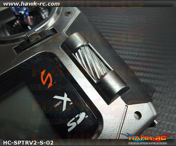 Hawk Creation CNC 7075 Alloy Slant Roller Button For DX6 G2/DX7 G2/8/9 (Silver)