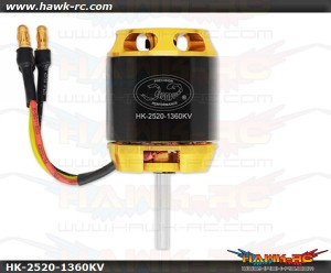 Scorpion HK-2520-1360Kv Motor (4mm Shaft)