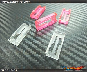 Tarot Servo Adaptor Locker (3 Pink, 2 Transparent)