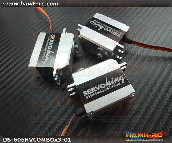 ServoKing DS-695HV CCPM Servo Combo (3pcs)