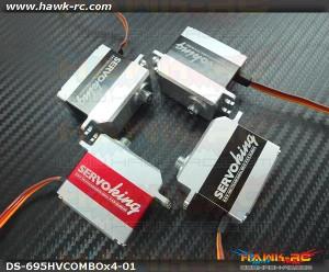 ServoKing DS-695HV CCPM + DS-695i Servo Combo (4pcs)