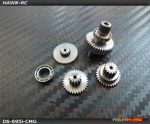 ServoKing DS-695i Complete Servo Gear Set (Include Bearings)